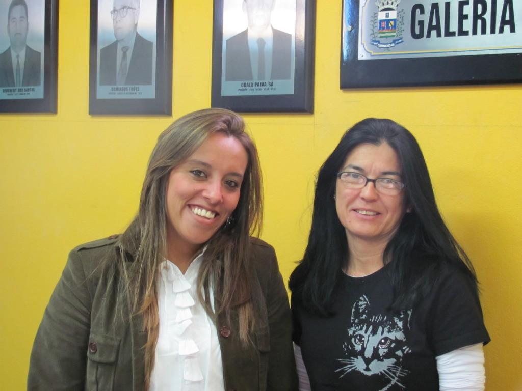 Daniela (Meio Ambiente da PM Camanducaia) e Marcia Wada (consultora Terceira Via)