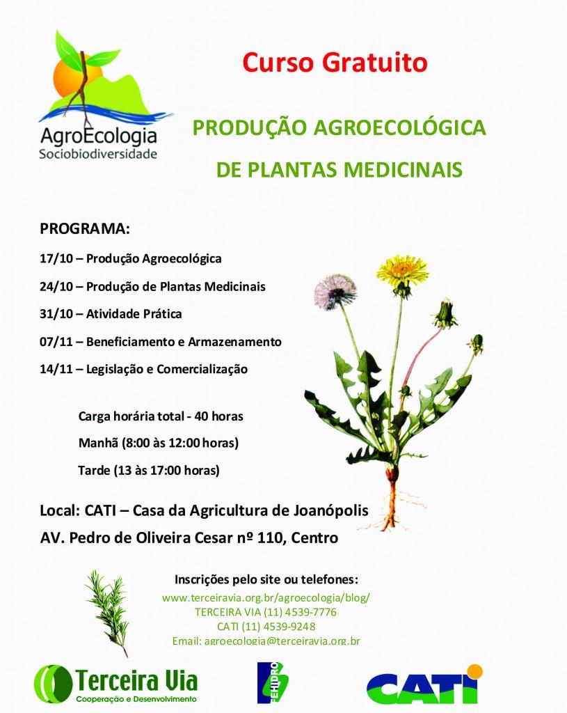 Convite curso plantas medicinais